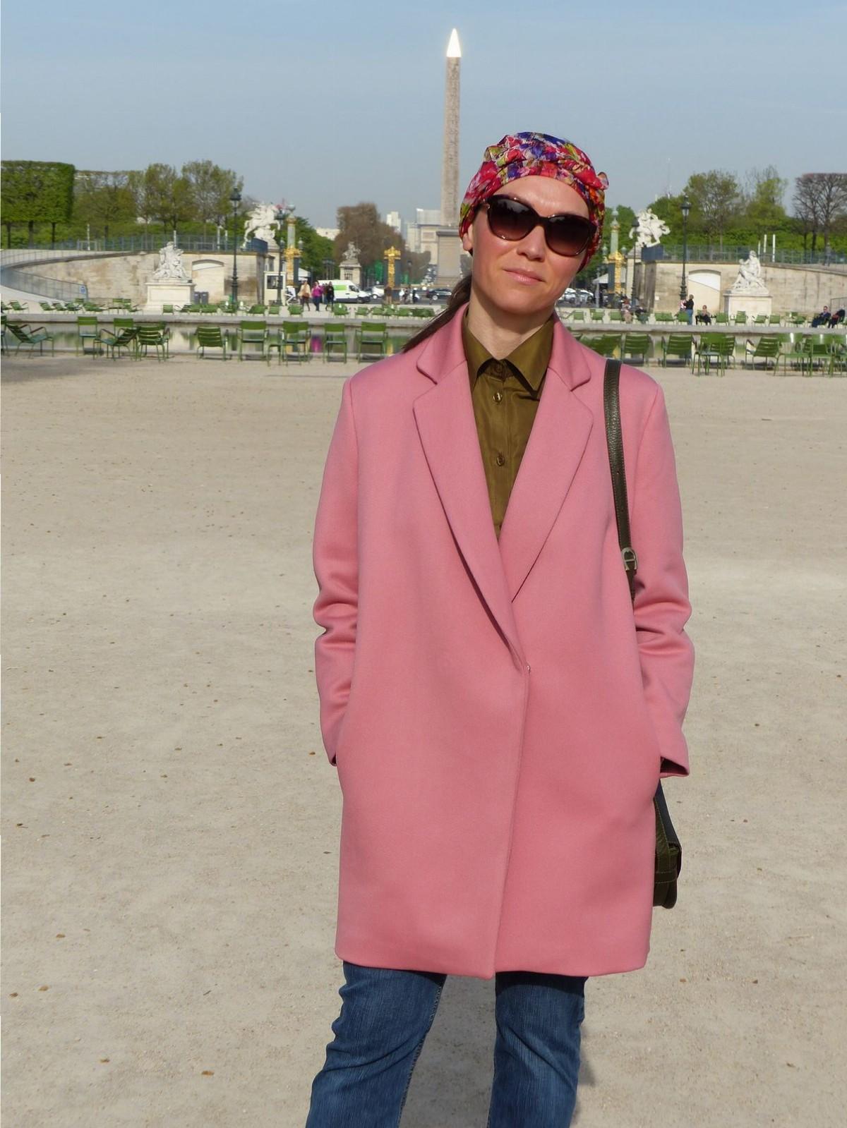 Manteau rose. Пальто. Шерстяной габардин
