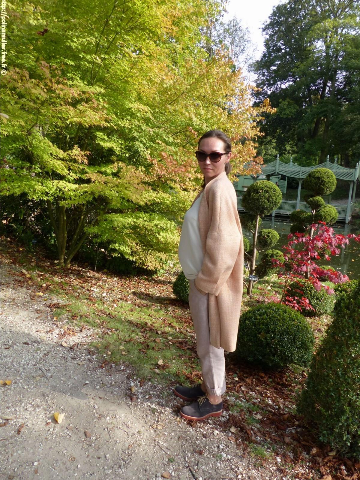 Пальто. Рукава кимоно. Manteau avec des manches kimono.