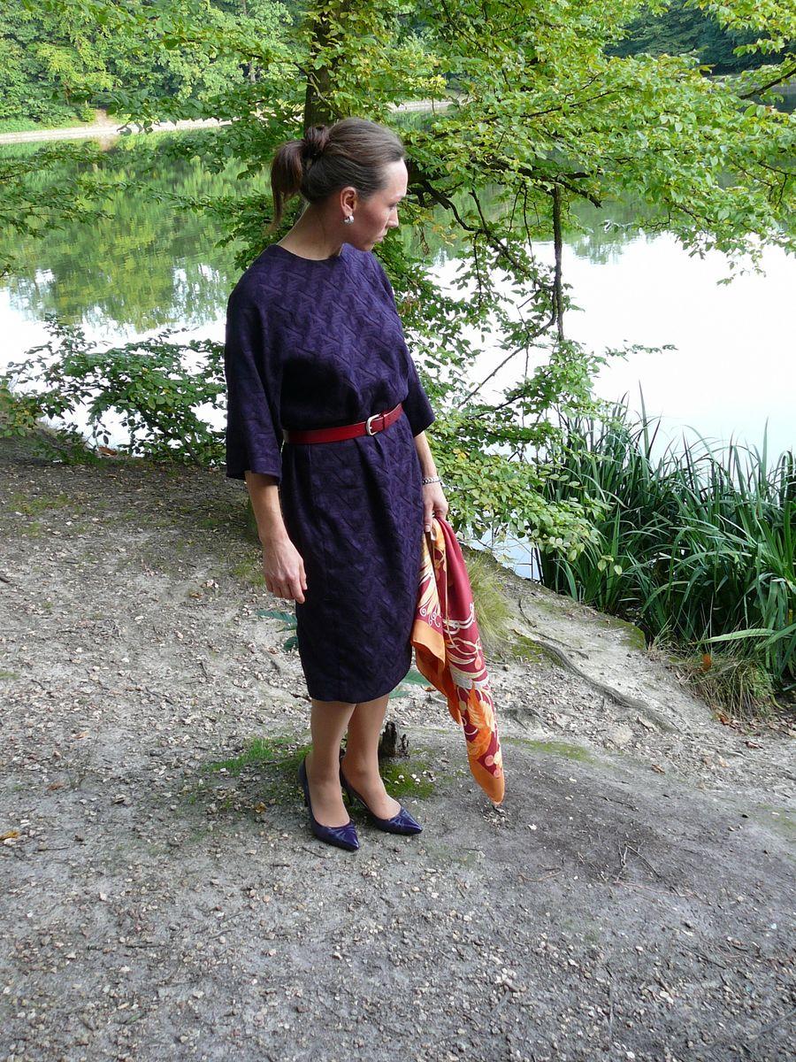 Robe en laine. Шерстяное платье.