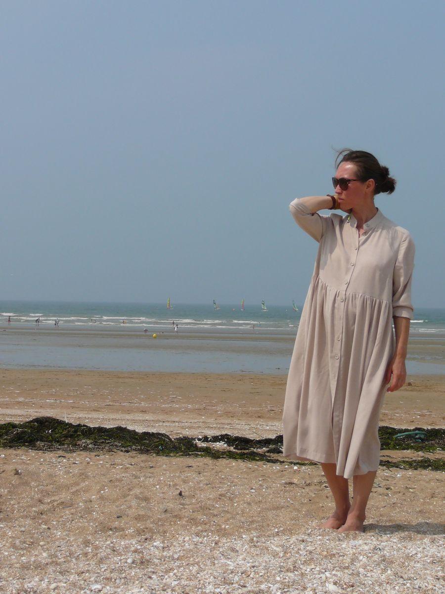 Robe-chemise en viscose. Платье-рубашка из вискозы.