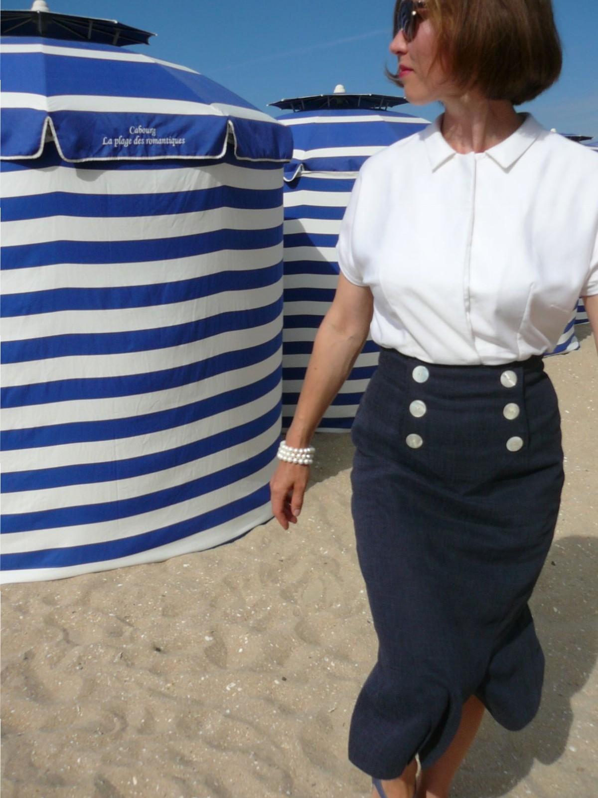 Retro blouse. Patron vintage 1956. Ретро блузка.